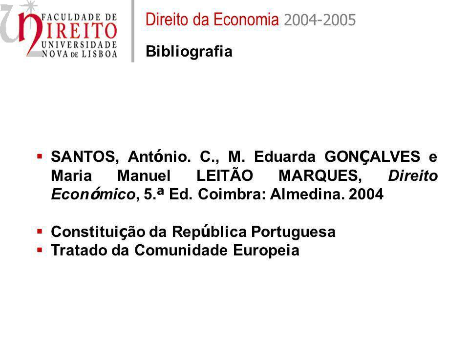 Direito da Economia 2004-2005 Bibliografia