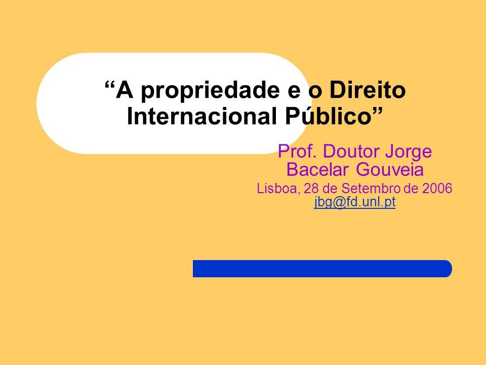 A propriedade e o Direito Internacional Público