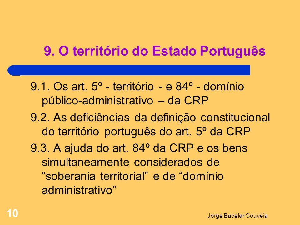 9. O território do Estado Português