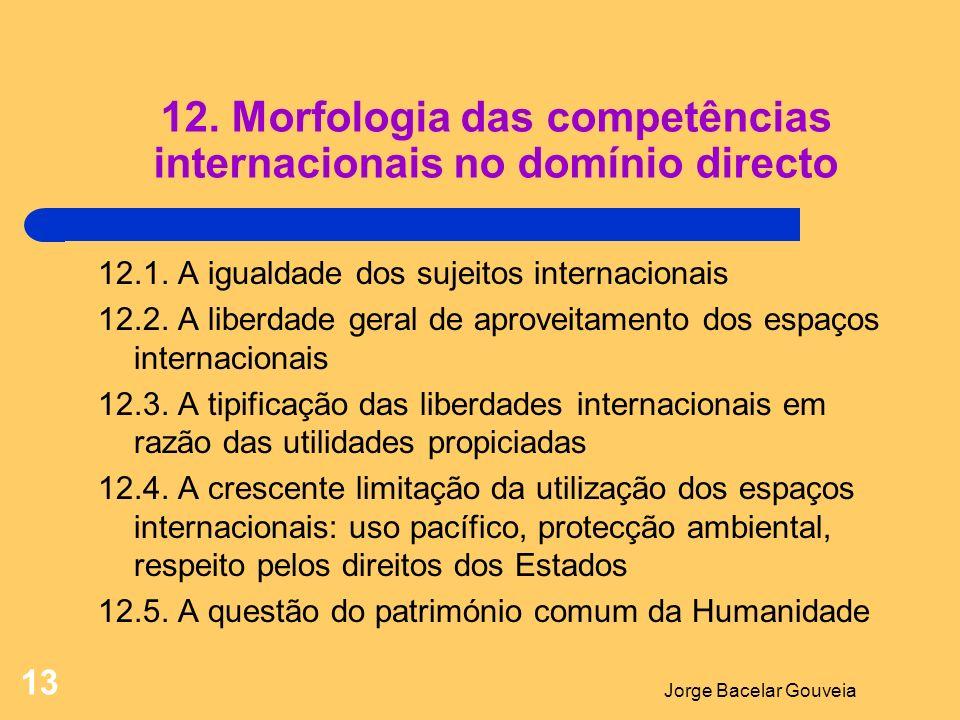 12. Morfologia das competências internacionais no domínio directo
