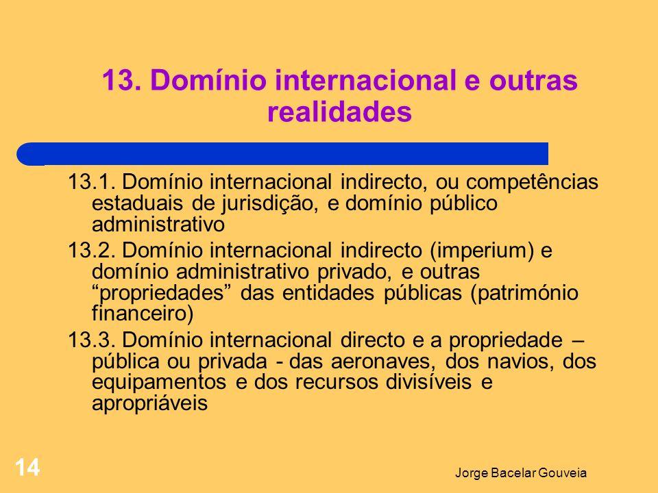 13. Domínio internacional e outras realidades