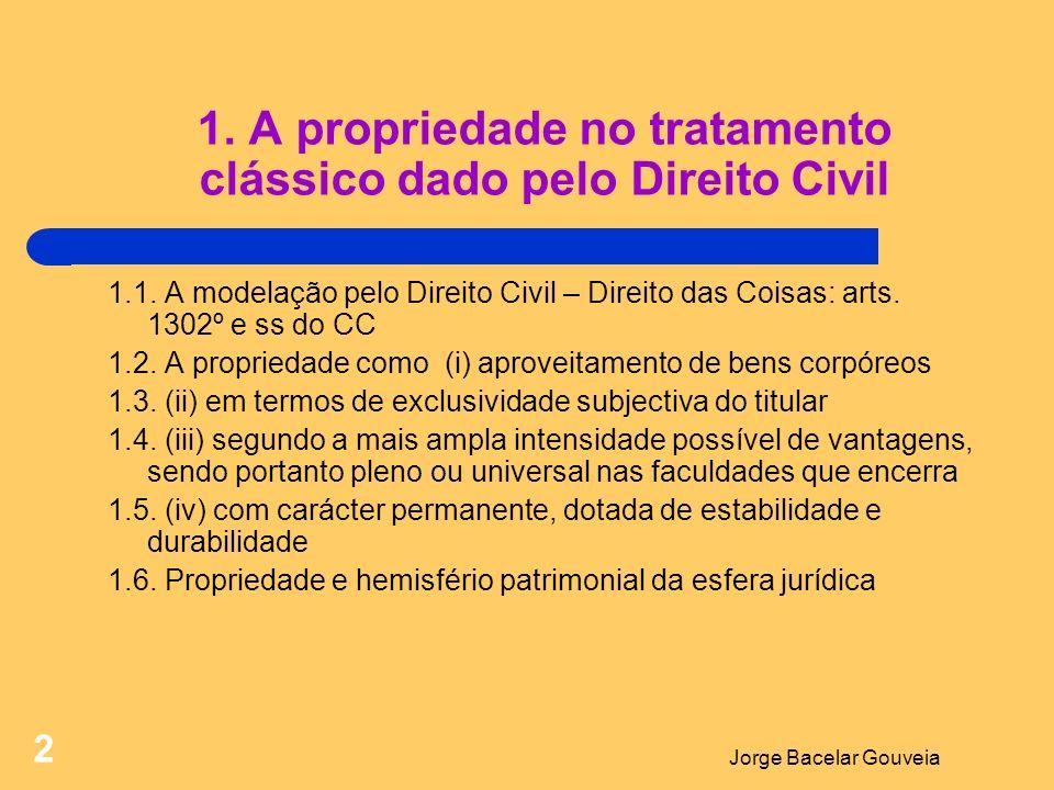 1. A propriedade no tratamento clássico dado pelo Direito Civil