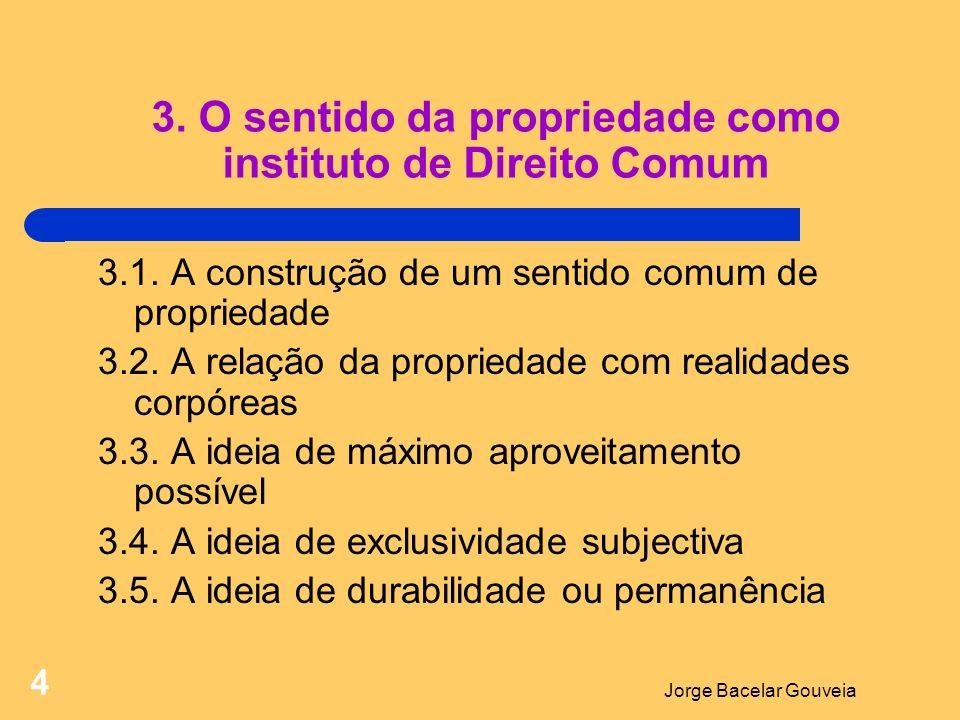 3. O sentido da propriedade como instituto de Direito Comum