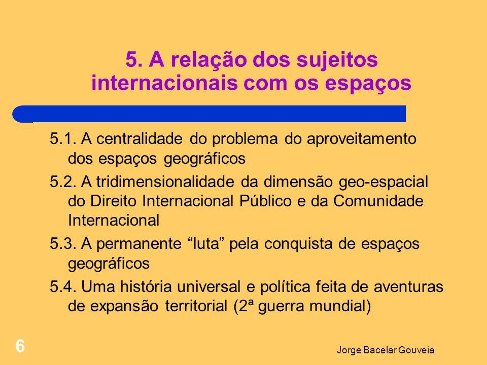 5. A relação dos sujeitos internacionais com os espaços