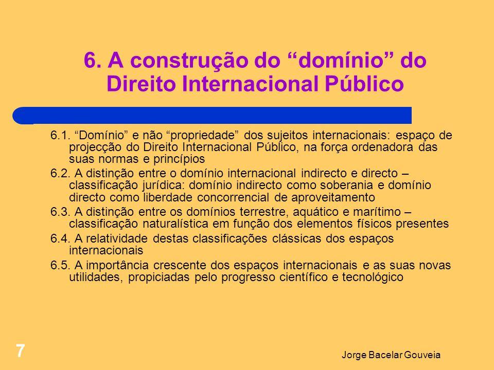 6. A construção do domínio do Direito Internacional Público