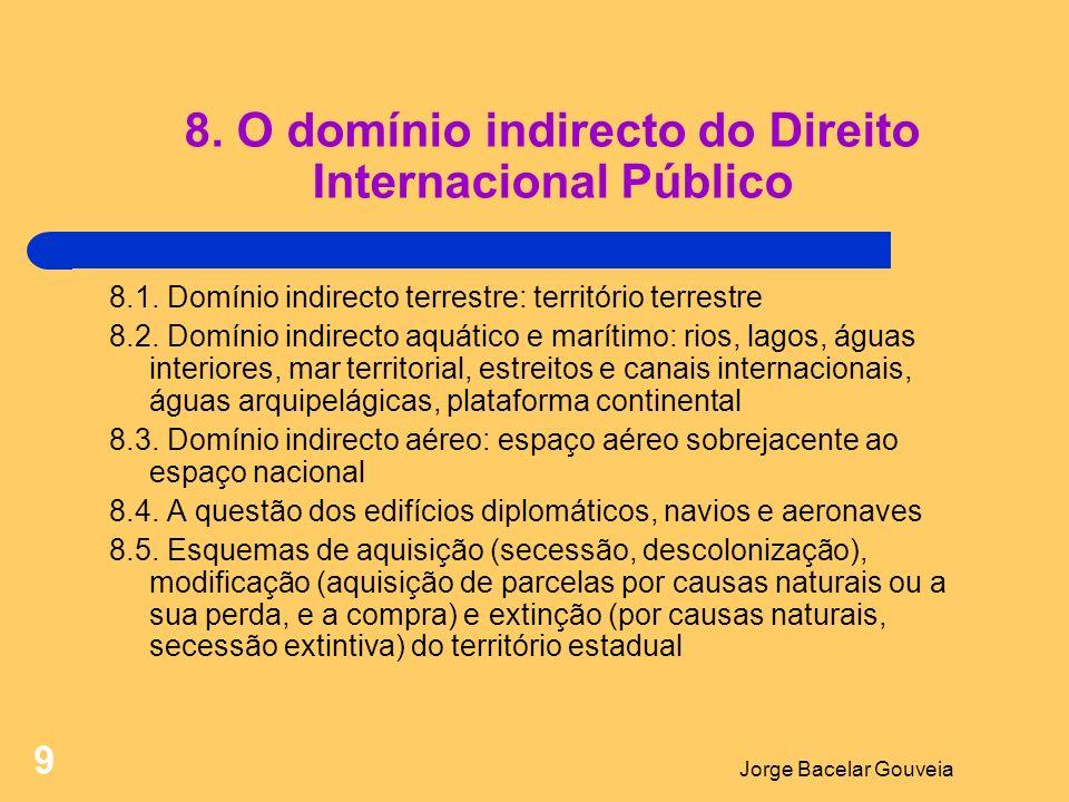 8. O domínio indirecto do Direito Internacional Público