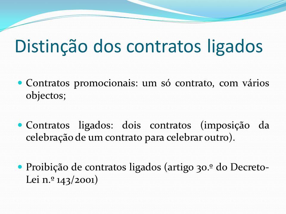 Distinção dos contratos ligados