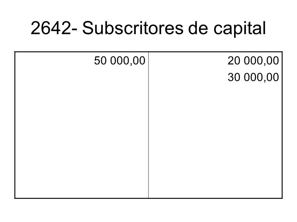 2642- Subscritores de capital