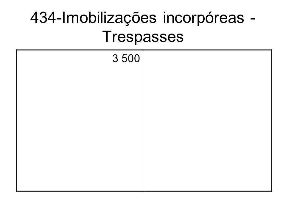 434-Imobilizações incorpóreas - Trespasses
