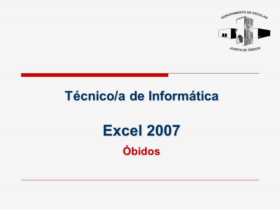 Técnico/a de Informática Excel 2007 Óbidos