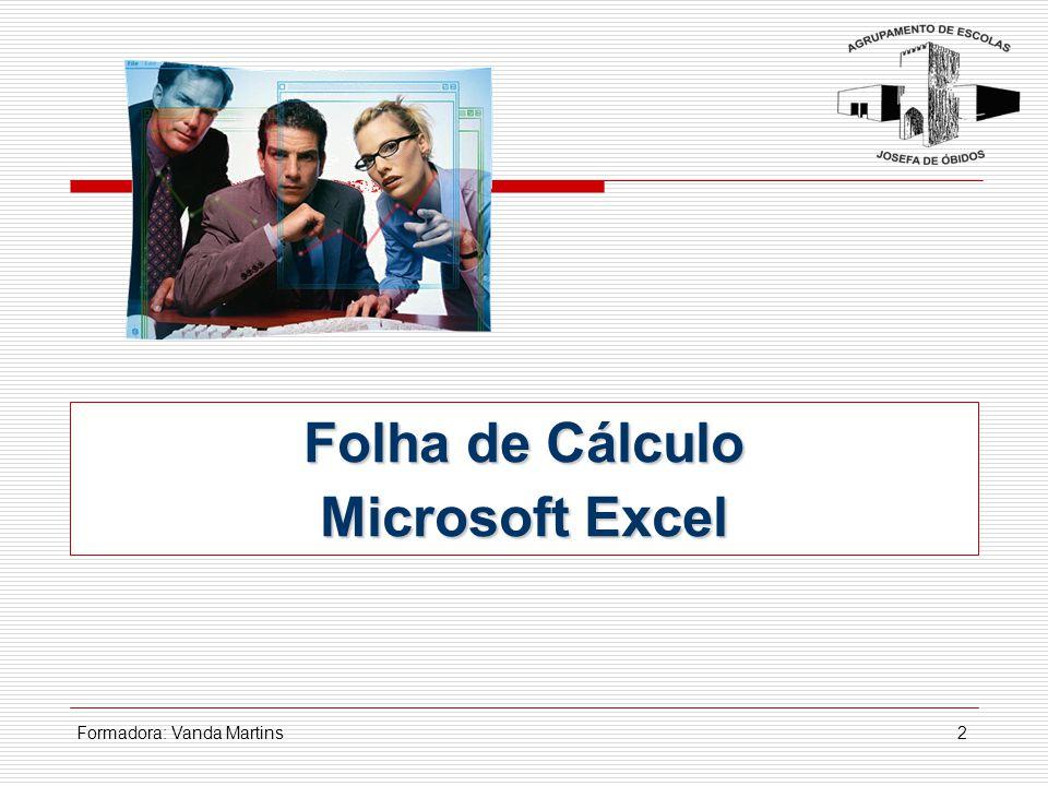Folha de Cálculo Microsoft Excel