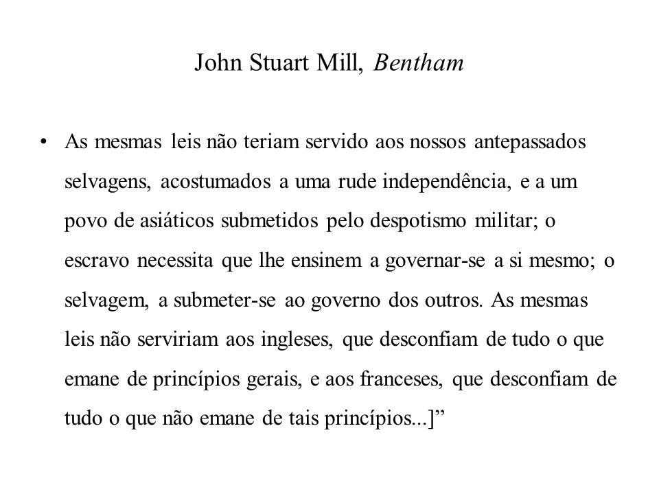 John Stuart Mill, Bentham