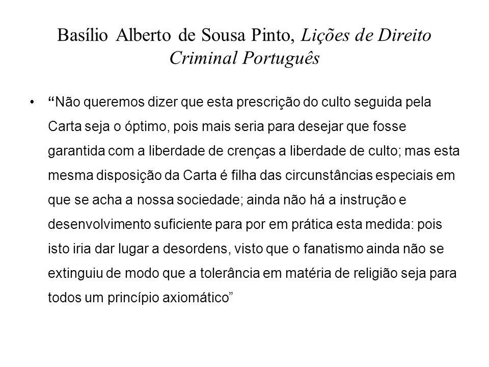 Basílio Alberto de Sousa Pinto, Lições de Direito Criminal Português