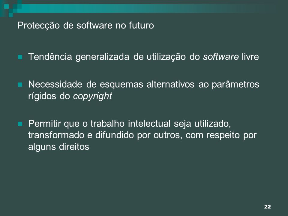Protecção de software no futuro
