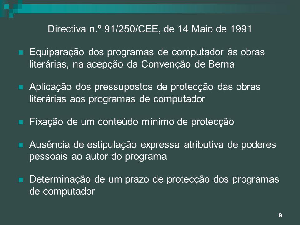 Directiva n.º 91/250/CEE, de 14 Maio de 1991