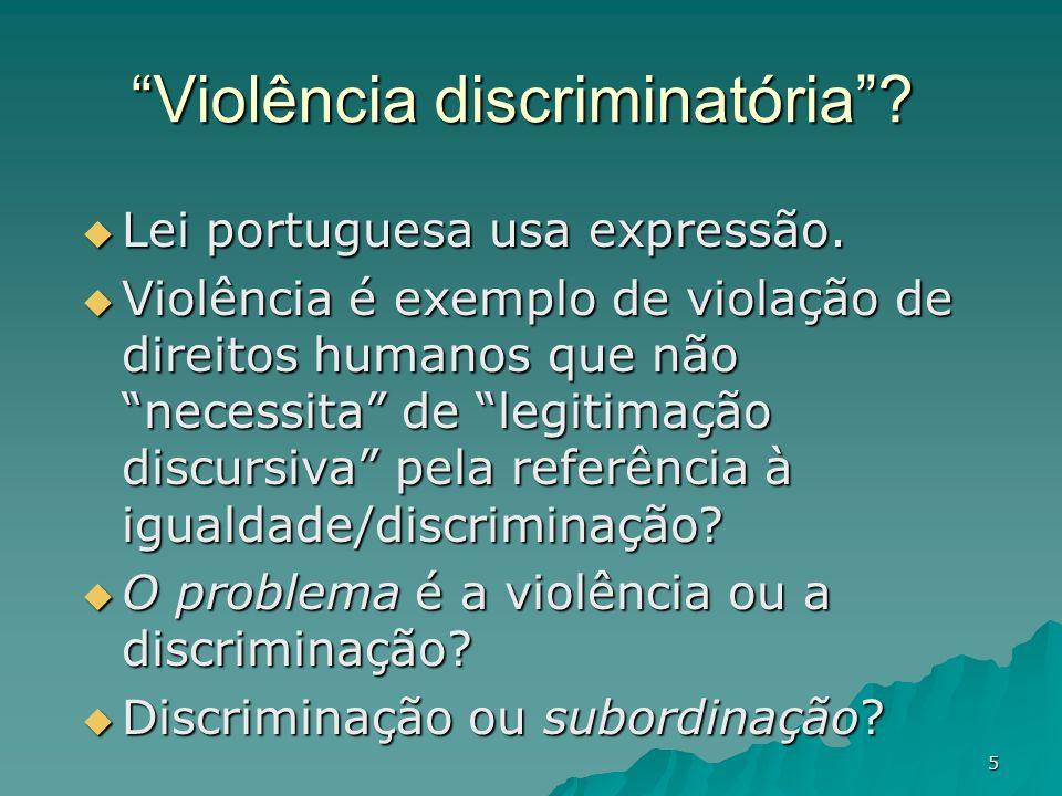 Violência discriminatória