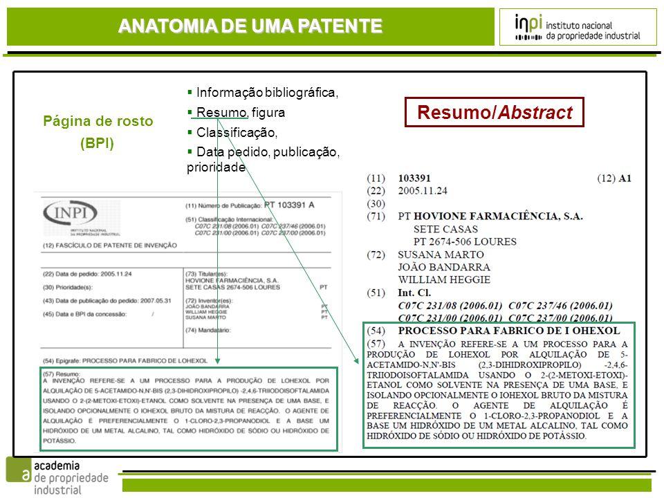 ANATOMIA DE UMA PATENTE