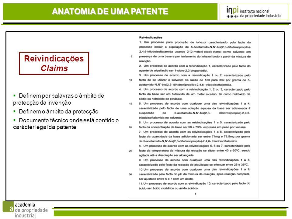 ANATOMIA DE UMA PATENTE ReivindicaçõesClaims