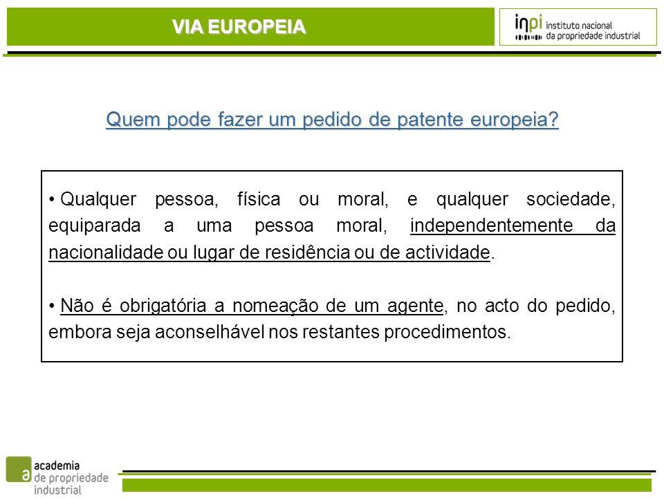 Quem pode fazer um pedido de patente europeia