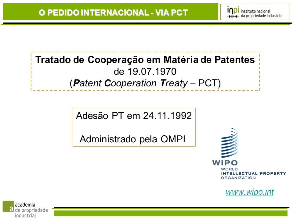 Tratado de Cooperação em Matéria de Patentes de 19.07.1970