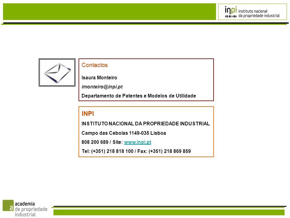 INPI Contactos Isaura Monteiro imonteiro@inpi.pt