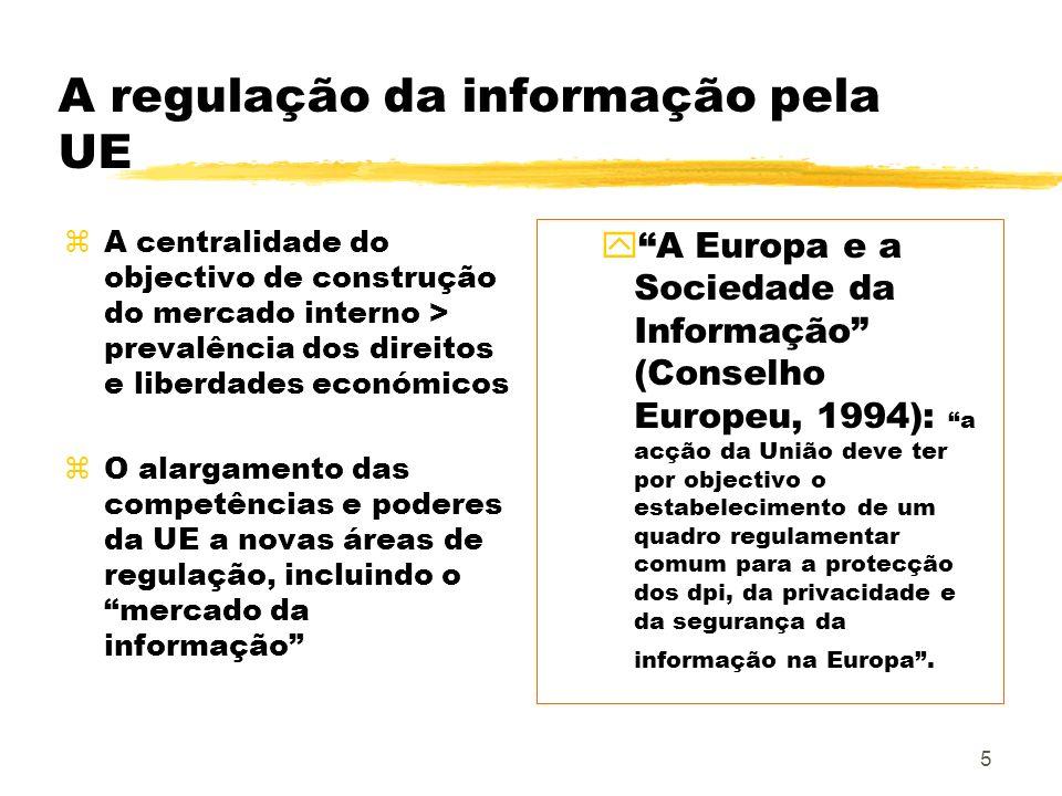 A regulação da informação pela UE