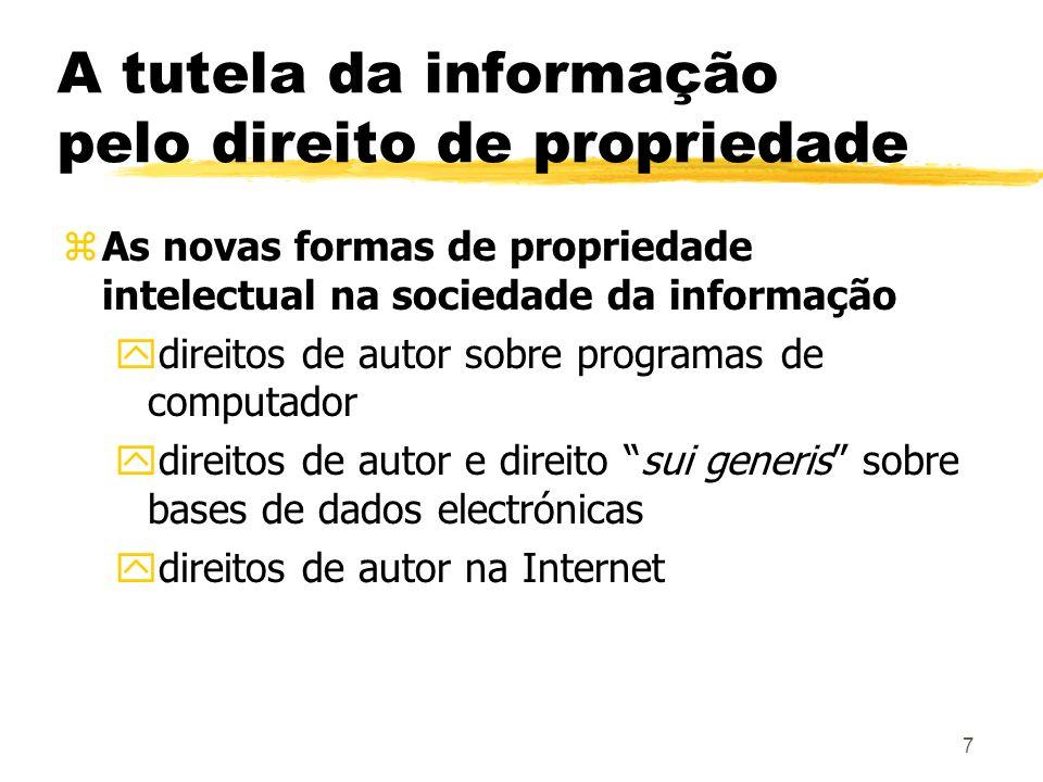 A tutela da informação pelo direito de propriedade