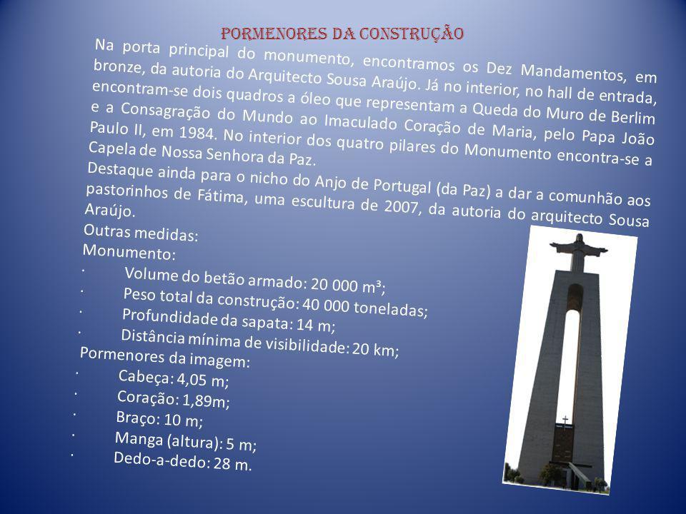 Pormenores da construção