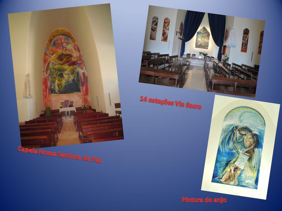 14 estações Via Sacra Capela Nossa Senhora da Paz Pintura do anjo