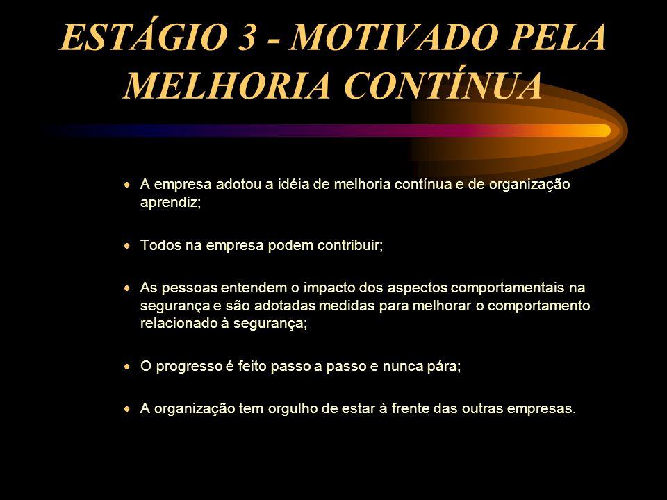 ESTÁGIO 3 - MOTIVADO PELA MELHORIA CONTÍNUA