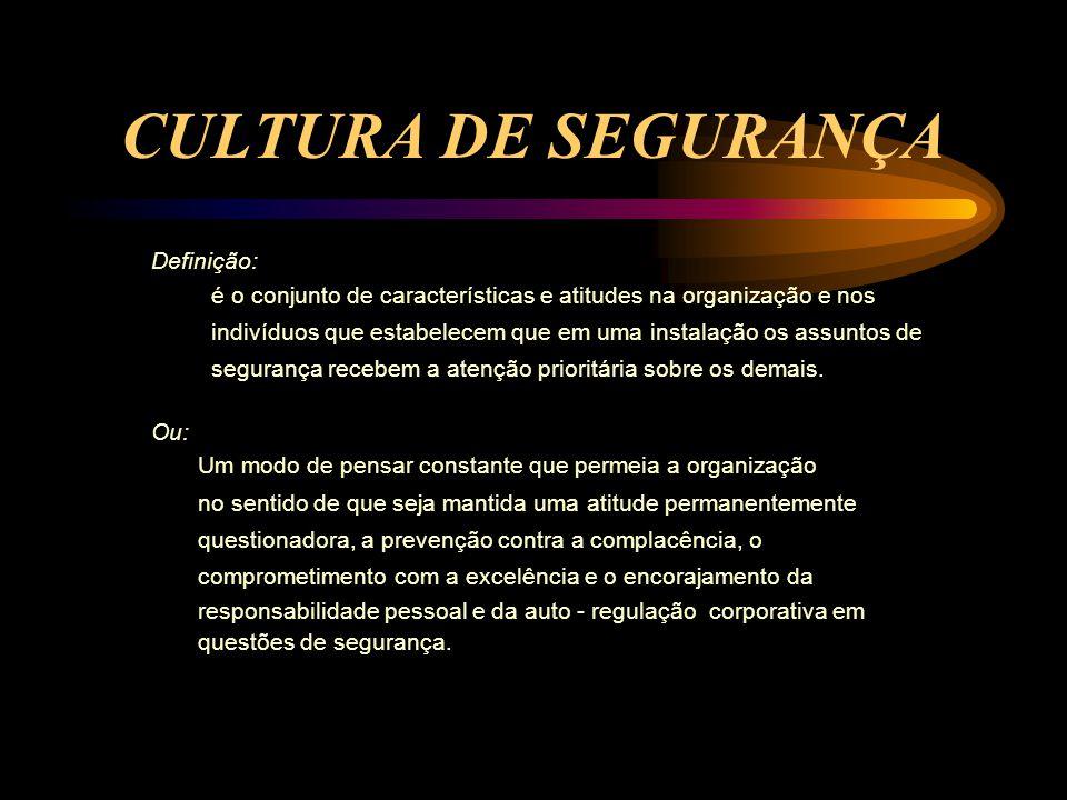 CULTURA DE SEGURANÇA Definição: