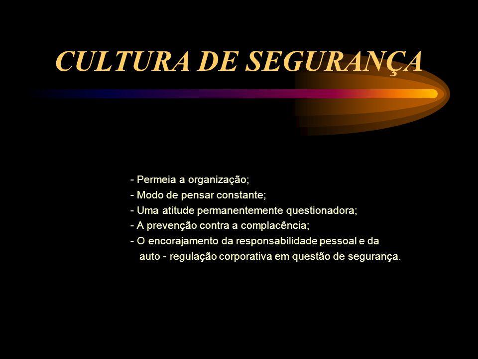 CULTURA DE SEGURANÇA - Modo de pensar constante;