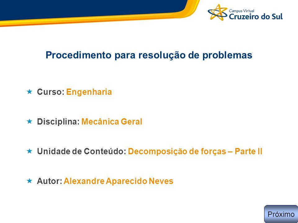 Procedimento para resolução de problemas