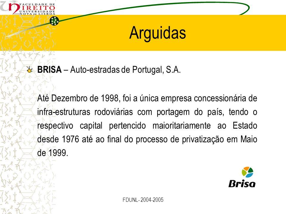 Arguidas BRISA – Auto-estradas de Portugal, S.A.