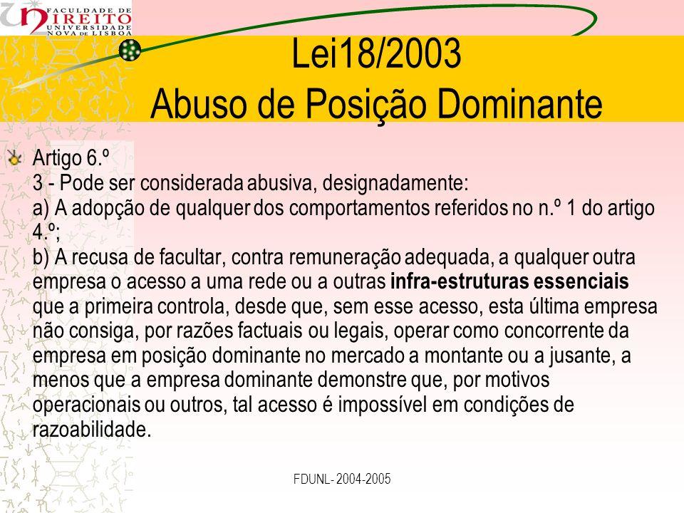 Lei18/2003 Abuso de Posição Dominante