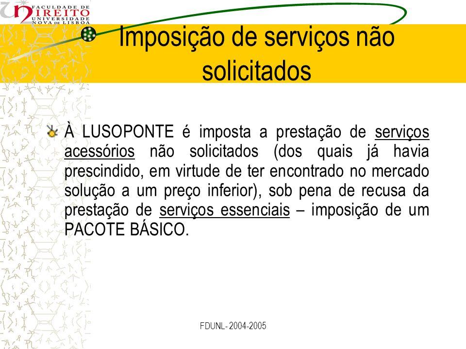 Imposição de serviços não solicitados