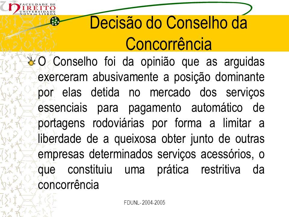 Decisão do Conselho da Concorrência