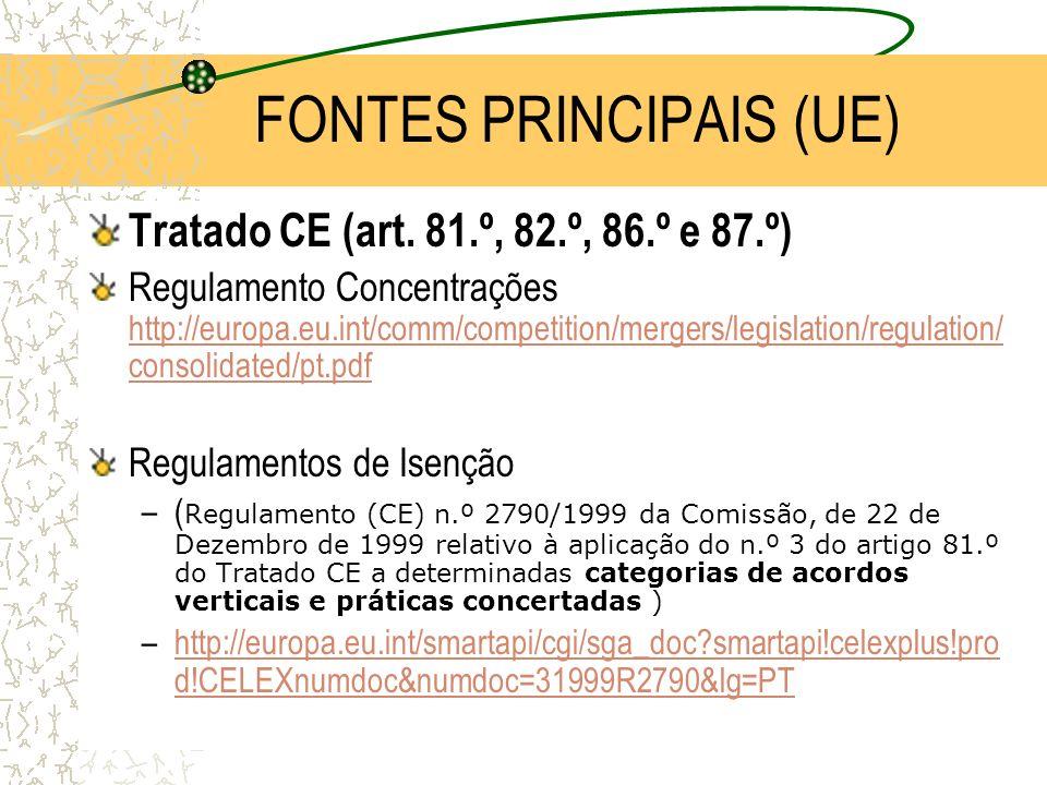 FONTES PRINCIPAIS (UE)