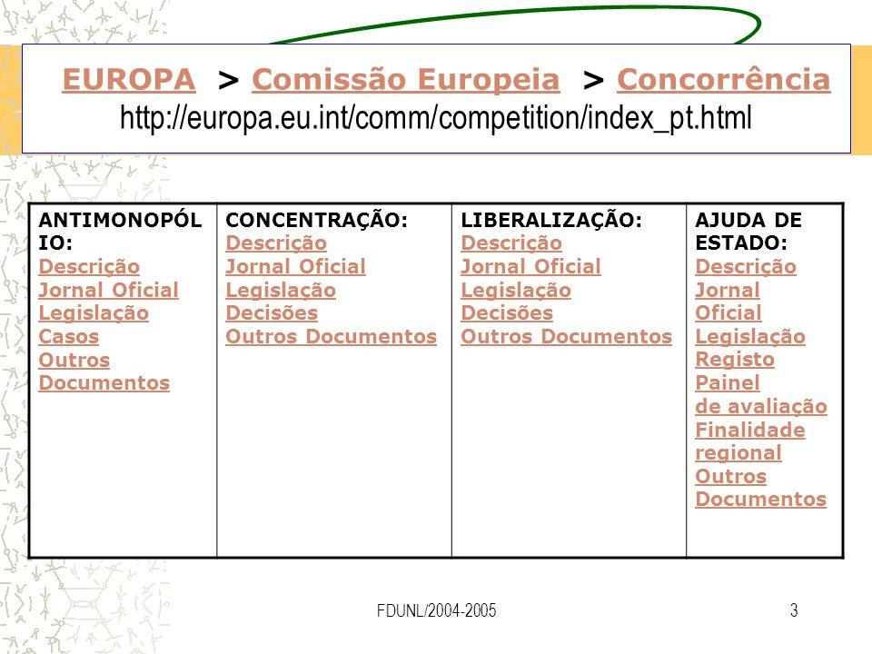 EUROPA > Comissão Europeia > Concorrência http://europa. eu