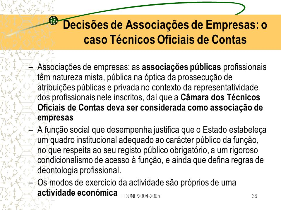 Decisões de Associações de Empresas: o caso Técnicos Oficiais de Contas