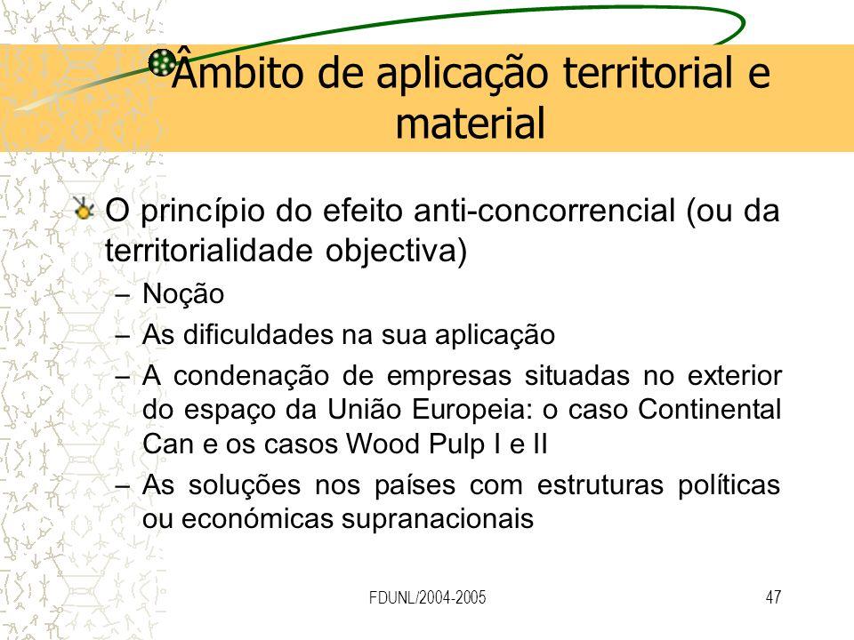 Âmbito de aplicação territorial e material