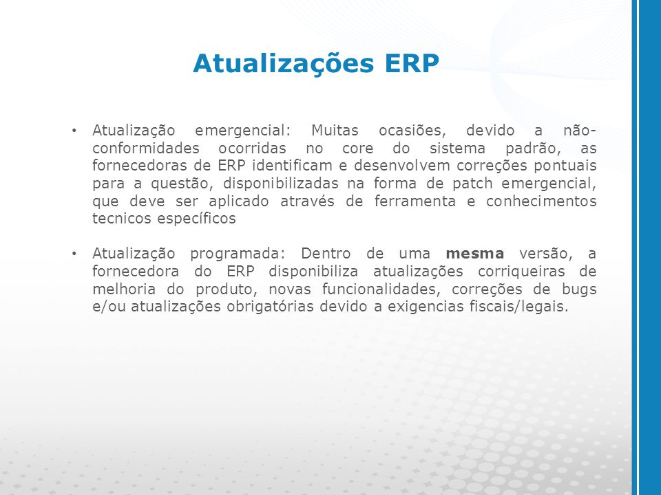 Atualizações ERP