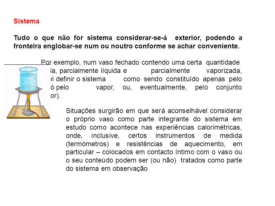 SistemaTudo o que não for sistema considerar-se-á exterior, podendo a fronteira englobar-se num ou noutro conforme se achar conveniente.