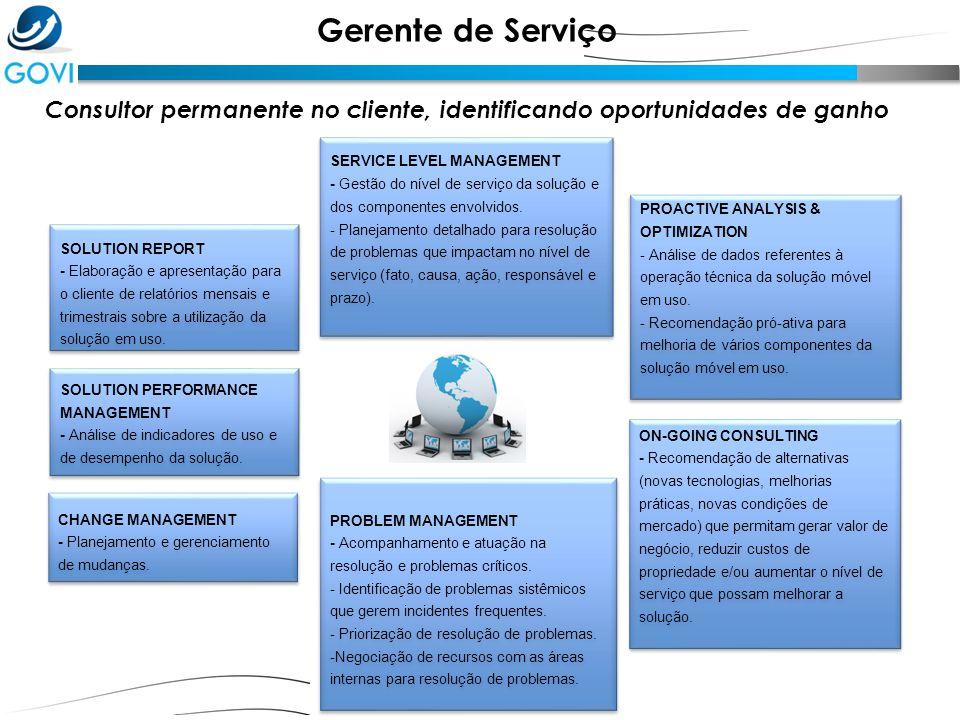 Consultor permanente no cliente, identificando oportunidades de ganho