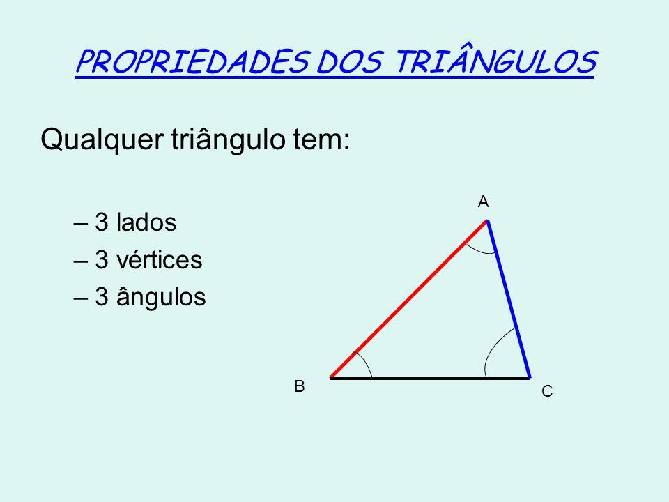 PROPRIEDADES DOS TRIÂNGULOS