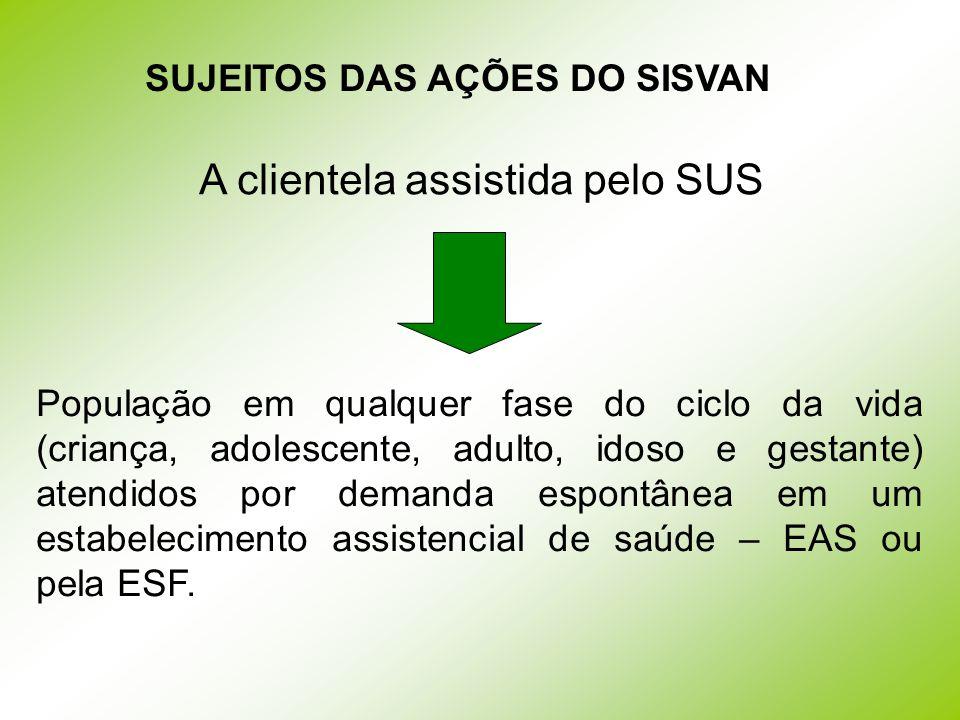 SUJEITOS DAS AÇÕES DO SISVAN