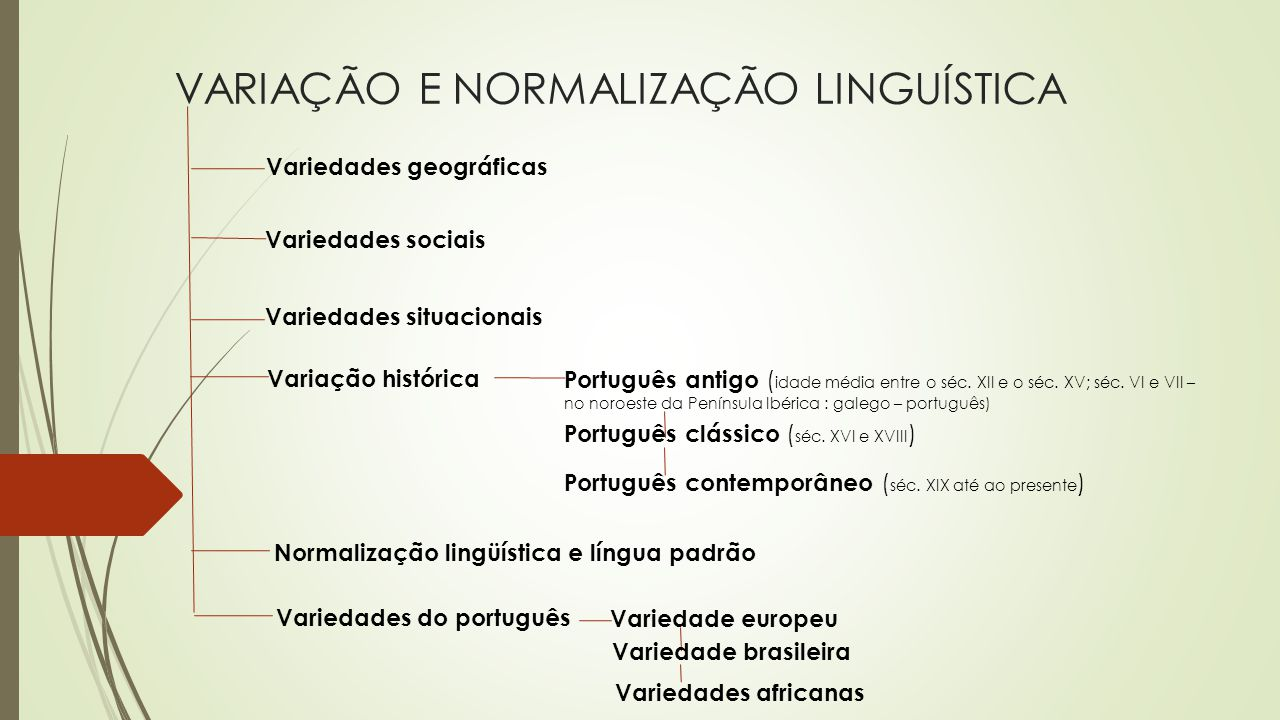 VARIAÇÃO E NORMALIZAÇÃO LINGUÍSTICA