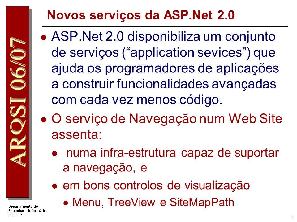 Novos serviços da ASP.Net 2.0