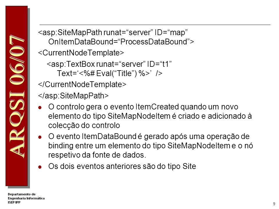 <asp:SiteMapPath runat= server ID= map OnItemDataBound= ProcessDataBound >