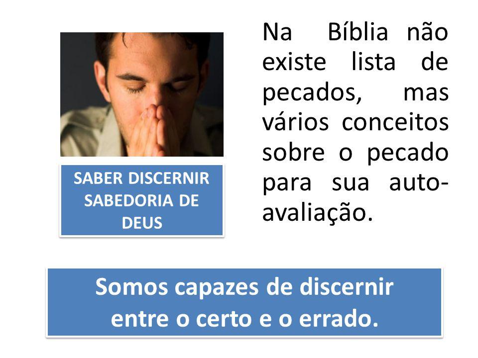 Somos capazes de discernir